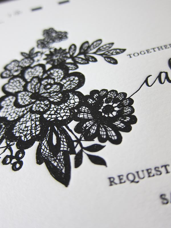 classic letterpress wedding invitations