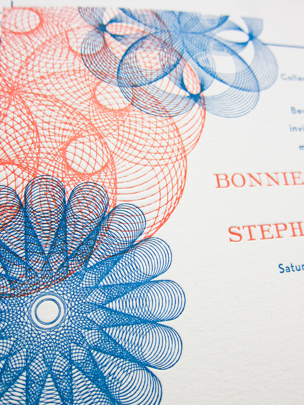 bella figura letterpress wedding invitation