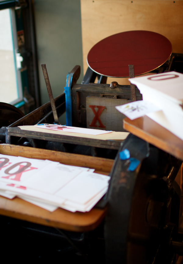 Sugarcube Press's print shop
