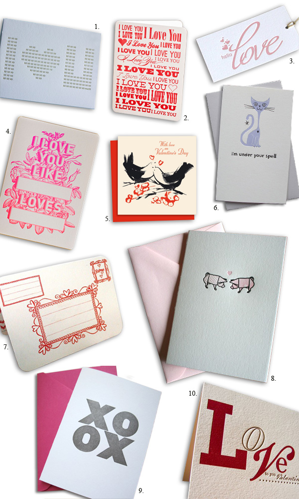 letterpress cards valentine's day