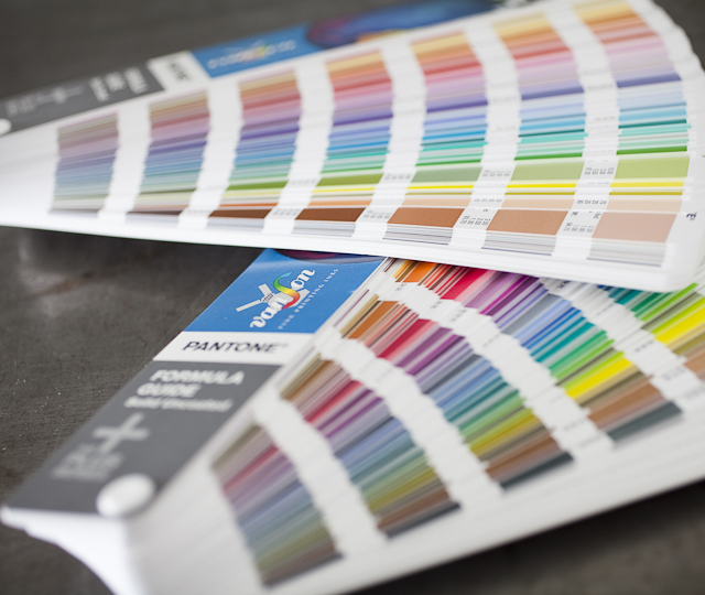 Letterpress Printing: Pantone Formula Guide Solid Coated and Uncoated