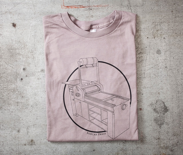 Letterpress T-shirt: Vandercook Printing Press
