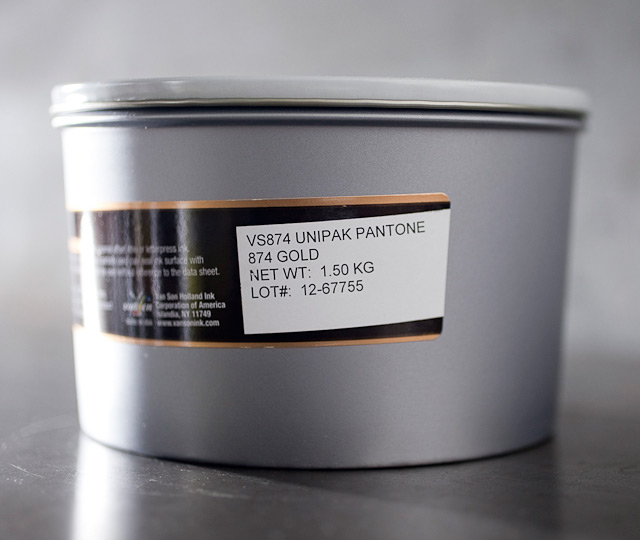 Pantone Gold 874 - metallic oil base