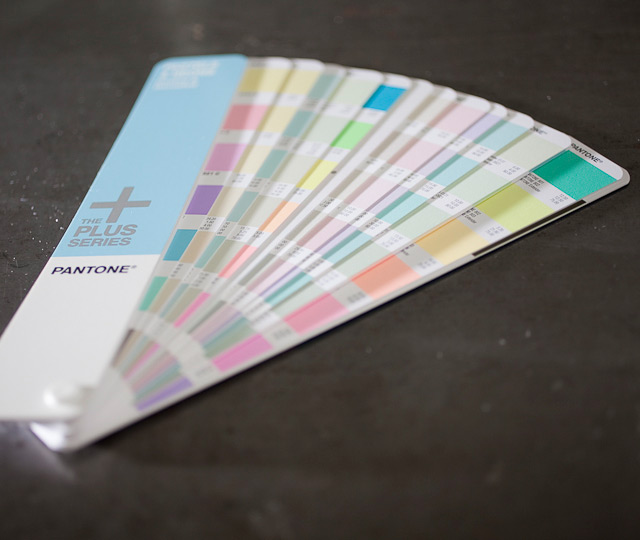 Letterpress Printing: Pantone Pastel Color Guide