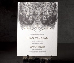 Gold Letterpress Invitations
