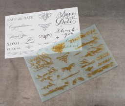 L Letterpress printing: Weddings Designs