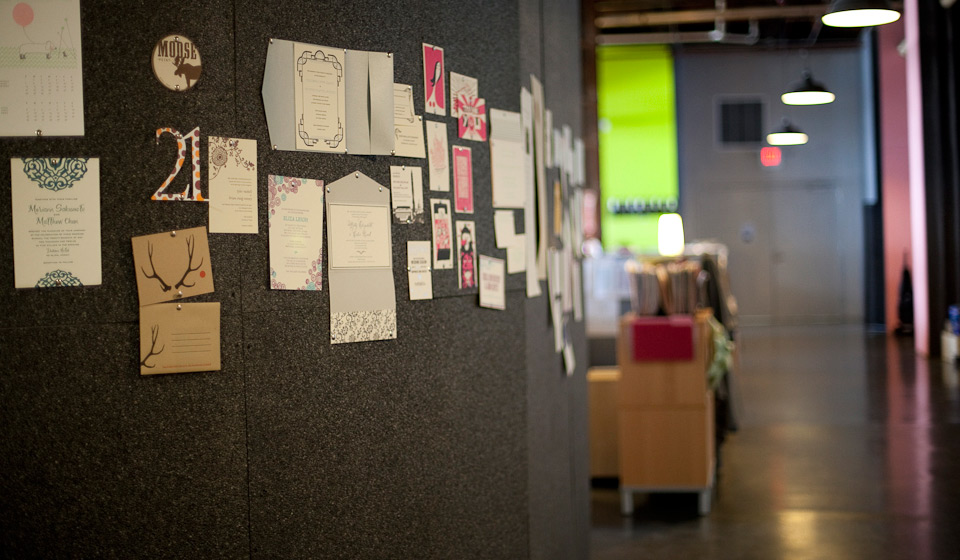 image of letterpress products wall