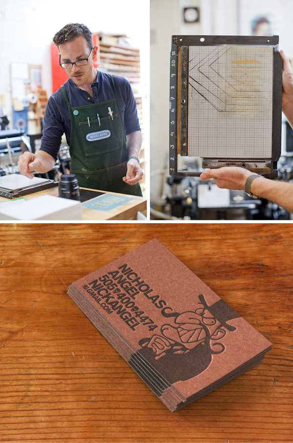 The Aesthetic Union is a letterpress print shop in San Francisco, California