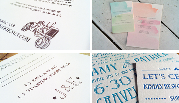 LittleOwl Letterpress printed pieces showing off color and fun!