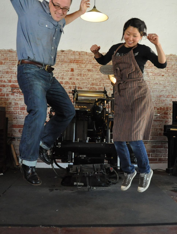 Ken and Shino of Fugu Fugu bring energy to letterpress!