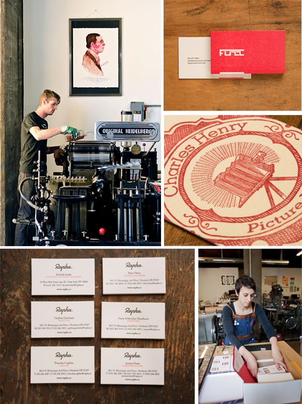 Keegan Wenkman washes down his Heidelberg Windmill with Katy packing up luscious letterpress goodies.