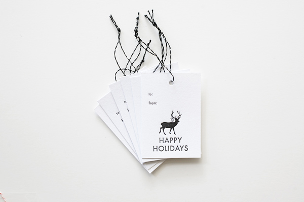 Bears Eats Berries prints gorgeous letterpress holiday gift tags.