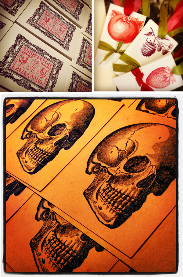 Vintage letterpress printed goodies by Appalachia Press