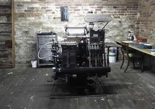 Little Peach Co's Heidelberg press, aka Big Bertha.
