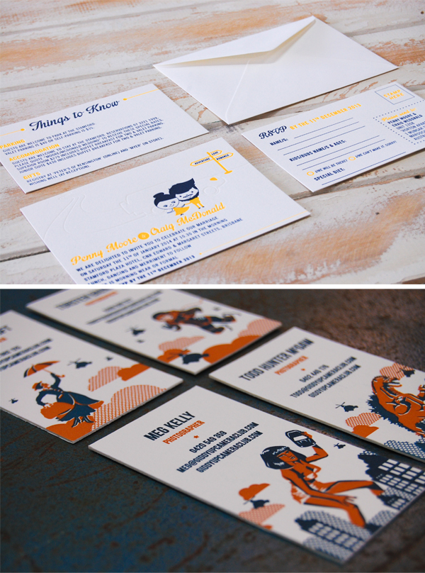 Business and identity lettepress printed pieces by Little Peach Co.
