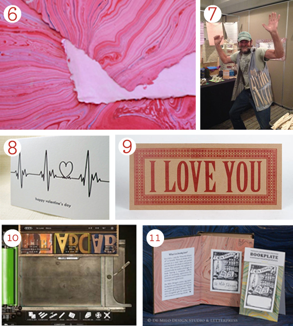 Letterpress goodies for Valentine's Day via Boxcapress.com.