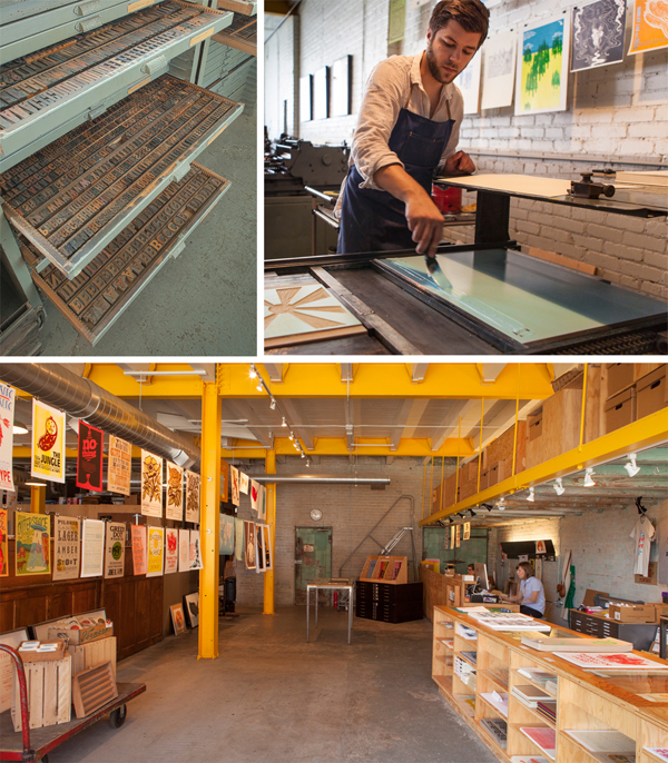 Detroit, Michigan's own letterpress community printshop, Signal Returns.