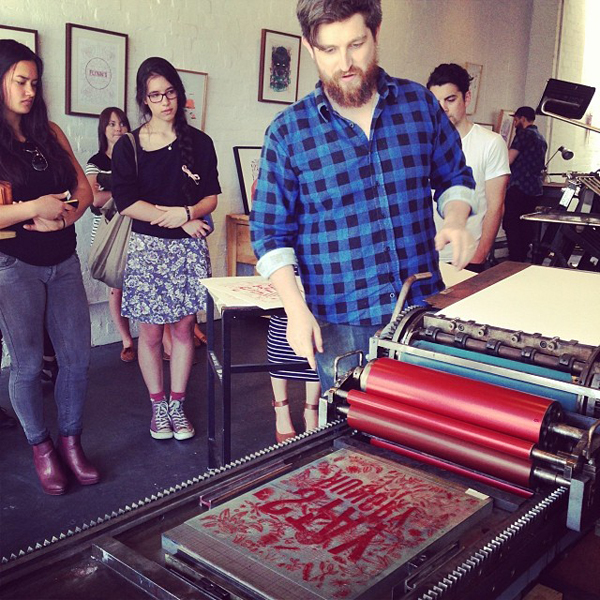 Simon Hipgrave of The Hungry Workshop shows how to print on a Vandercook.