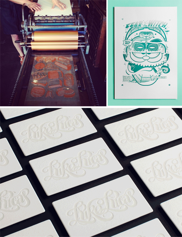 The Hungry Workshop shows fun and flair for letterpress.
