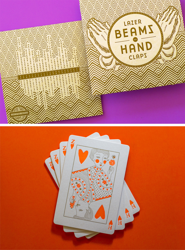 More colorful thank you letterpress cards printed by The Hungry Workshop.