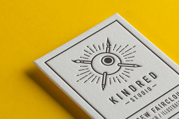 Eye-popping letterpress business card printed by The Hungry Workshop.