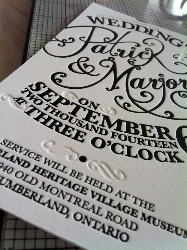 "L Letterpress at-home printing tips using a blind deboss as a ""second"" ink color."