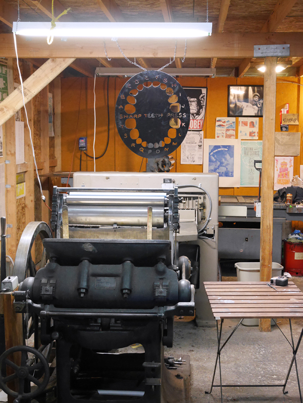 A closer look at the presses of Sharp Teeth Press.